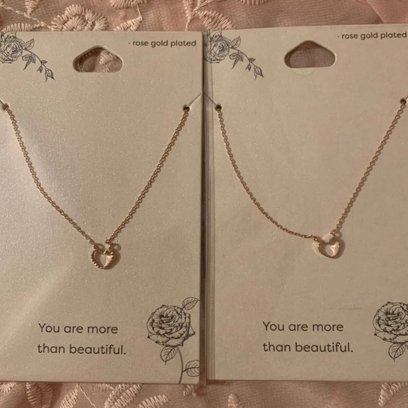 Forever 21 Jewelry - Heart necklaces
